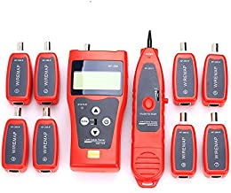 NF-388 Multipurpose Handheld Network Coax Cable Tester Trace Cat6 6E Cat5E Coaxial Cable Tracker USB BNC RJ45 RJ11 Tester Network Cable Ethernet Wire Tester Telephone Cable Tester Audio Cable