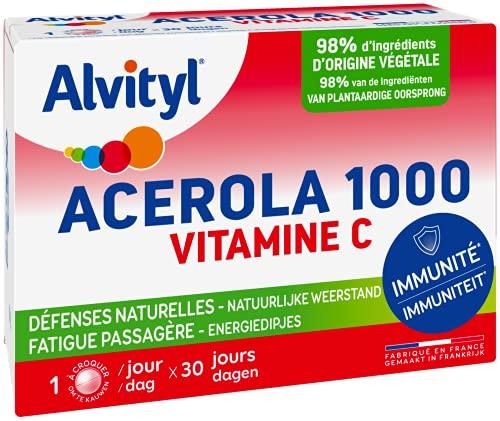 Alvityl - Comprimés Acerola 1000 - Acerola - Vitamine C - 30 comprimés 1/jour