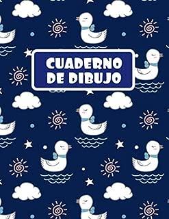 CUADERNO DE DIBUJO: BLOCK DE 100 PAGINAS EN BLANCO. LIBRETA ESPECIAL DIBUJO. REGALO CREATIVO Y ORIGINAL PARA NIÑOS Y JÓVENES. BONITO DISEÑO DE PATITOS. (Spanish Edition)
