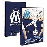 1 cuaderno de texto del fútbol Olympique de Marsella, 15 x 21 cm