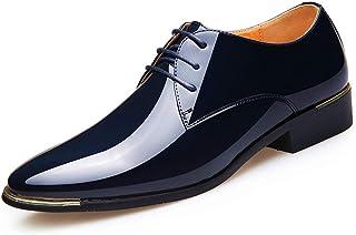 be21c70e02dffa Zapatos de Derby para los Hombres de Charol Zapatos de Vestir de Oxford  Blanco Formal Masculino