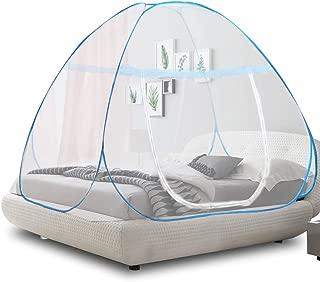 OTraki 蚊帳 ワンタッチ 大人 ダブルドア設計 2人用 かや ワンタッチ 幅180cm 長さ200cm モスキートネット 折りたたみ 密度が高い 蚊よけ ムカデ対策 日本語説明書付き