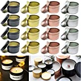 Candle Containers,Candle Tin 24 Pcs 4 oz for DIY Candle Making Kits,Candle Metal Tin Storage