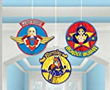 amscan DC Super Hero Girls Honeycomb Decoration | DC Super Hero Girls Collection - 3 pcs, Multicolor | Party Accessory (291609)