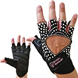 Steel Sweat Gym Gloves for Women - Best for Workout, Weight Lifting, Crossfit Fitness Training, Cycling and Powerlifting - Pink Hart Small