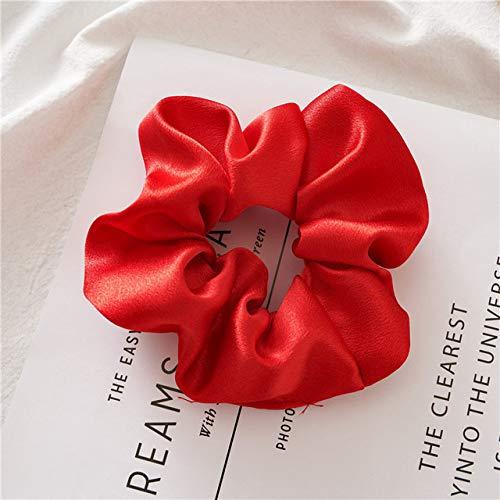 WEIYYY Fasihon Dot Ribbon Hair Scrunchies para Mujer Anillo de Pelo Mujer Cola de Caballo Cinta de Tela de Gasa Lazos para el Cabello Accesorios para el Cabello, 61