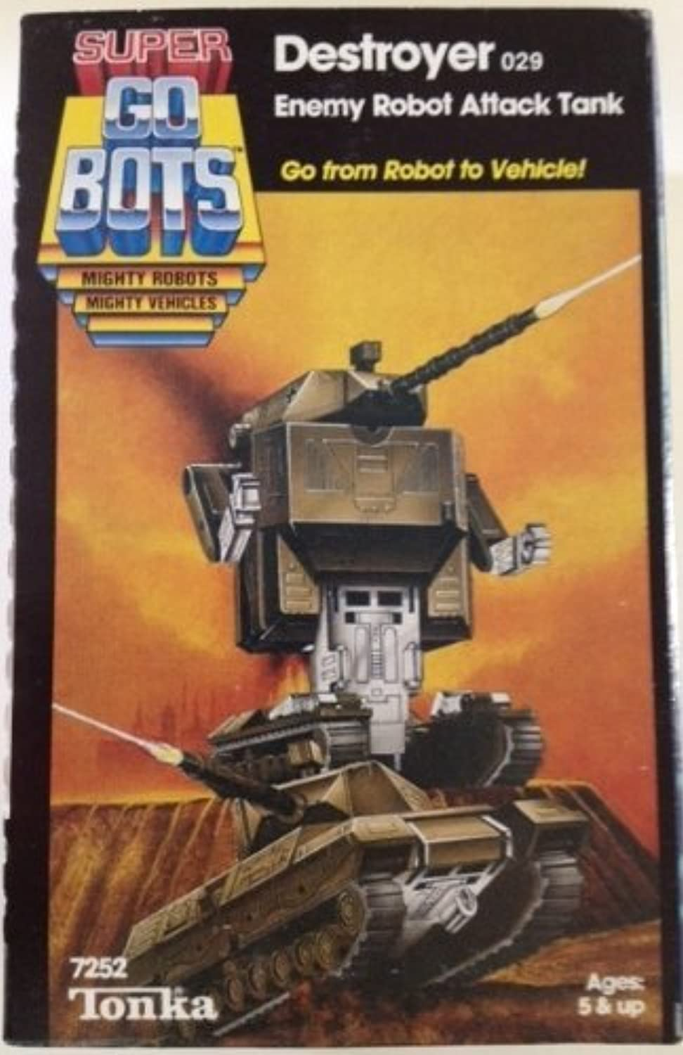 Super GoBots Destroyer Enemy Robot Attack Tank Vintage 1985 Action Figure by Go Bots