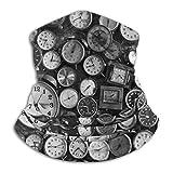 Reloj Cuello Polainas Calentador Hombres Mujeres Círculo cálido Bufandas de bucle para clima frío