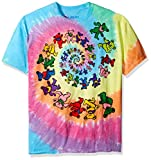 Liquid Blue Men's Grateful Dead Spiral Bears T-Shirt, Multi, XX-Large