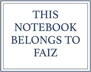 This Notebook Belongs to Faiz