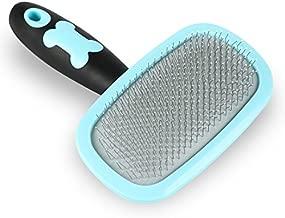 Glendan Dog Brush & Cat Brush- Slicker Pet Grooming Brush- Shedding Grooming Tools(Blue)