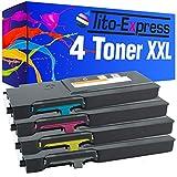 Tito-Express PlatinumSerie 4 Toner XXL kompatibel mit Dell C2660 C2660DN C2665DNF | 593-BBBU 593-BBBT 593-BBBS 593-BBBR | Black 6.000 Seiten