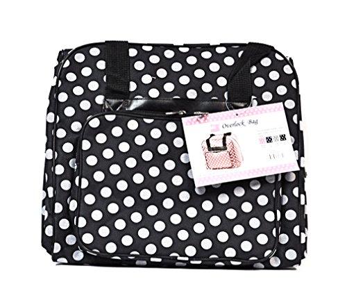 Over-Coverlock Tasche (schwarz/weiß gepunktet)