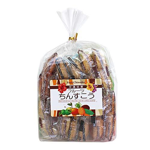 フルーツちんすこう 24個入×1袋 優菓堂 南国を代表する青果 グァバ マンゴー シークワーサー ゴーヤ パイン ココナッツ6種類の味が楽しめます