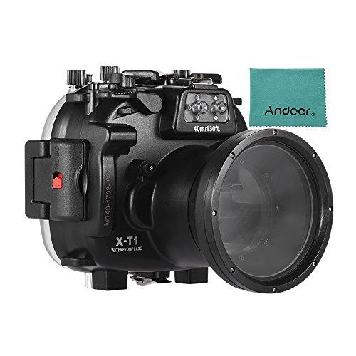 Andoer meikon Wasserdichte Kamera Tauchen Gehäuse Schutzhülle Unterwasser 40m/130FT für Fujifilm Fuji X-T1