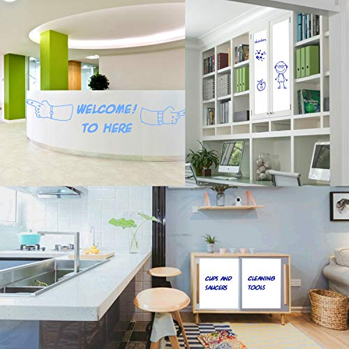 """Prefer Green Self-Adhesive Whiteboard Wall Decal Sticker, 78.7"""" × 17.5"""" Extra Large Strong & Durable Dry Erase Wall Paper Message Board for Kids, Office, School & Home with 1PCS Marker Pen (White) Photo #7"""