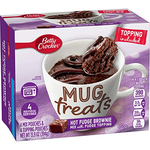 Betty Crocker Baking Mug Treats Hot Fudge Brownie Mix with Fudge Topping, 13.9 oz(us)