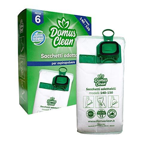 Domus Clean sacchetti per folletto vk 140-150 in microfibra certificati HEPA 12 - adattabili