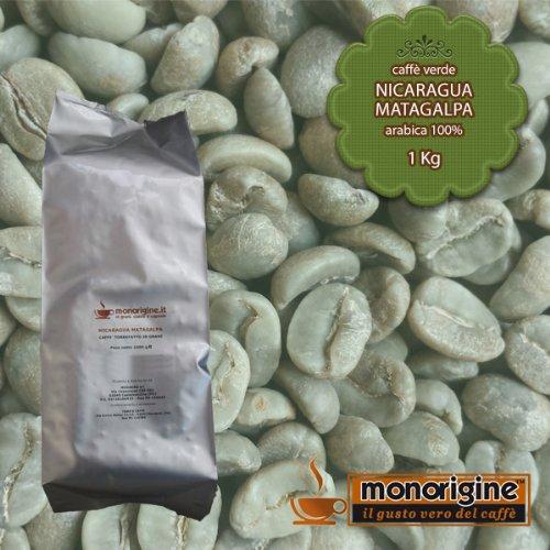 Arabica Green Coffee beans Nicaragua Matagalpa El Baron - 1 Kg