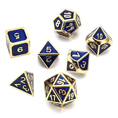 MASUNN Antiek Kleur Effen Metalen Zware Dobbelstenen Set Polyhedrale Dobbelstenen Rol Spelletjes Dobbelsteen Gadget RPG