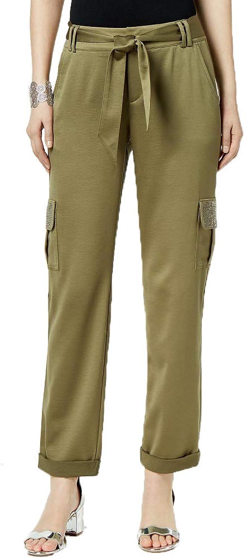 INC International Concepts I.N.C. EmbellishedPocket Satin Cargo Pants