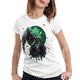 style3 Sephiroth VII Camiseta para Mujer T-Shirt Fantasy Avalanche Juego de rol PS iOS japón, Talla:XL