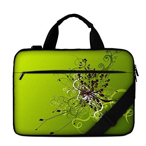 17' Luxburg Borsa a tracolla di alta qualità per Computer portatile - Artwork con Fiori Verdi