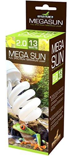 Reptiles Planet Beleuchtung Mega Sun UVB 2,0Lampe 13W 2% UVB 30% UVA