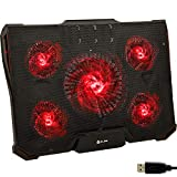 KLIM Cyclone Laptop Cooling Pad - 5 Fans Cooler - No More Overheating - Increase Your PC Performance...