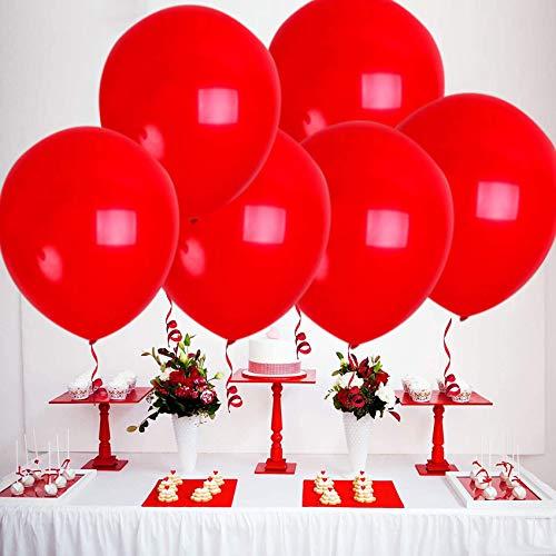 Sunshine smile Luftballons Rot ,Luftballons Helium,latexballon,Ballon Dekoration,Luftballons für Geburtstag Hochzeit Party,110 Stück Luftballons(Rot)