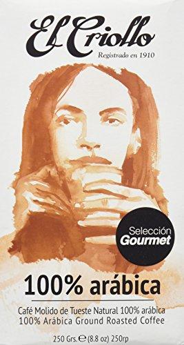 El Criollo Café Molido Selección Gourmet 100% Arábica - Paquete de 4 x 250 gr - Total: 1000 gr