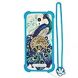 Funda para Elephone P6000 Pro Funda Silicone Border + Placa Dura de la PC Stand Carcasa Case Cover XKQ