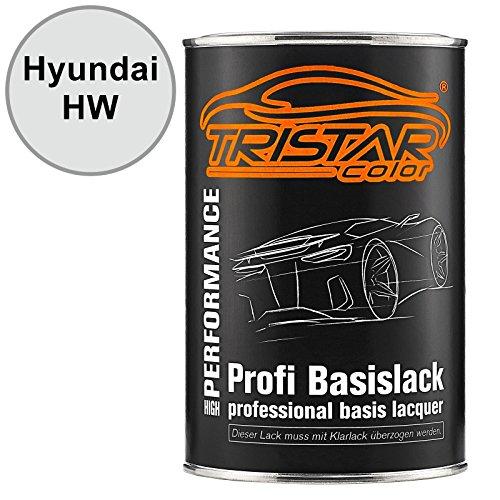 Preisvergleich Produktbild TRISTARcolor Autolack Dose spritzfertig für Hyundai HW Crystal White / Grace White Basislack 1, 0 Liter 1000ml