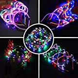 LED Stirnband Bunt Leucht Hairband - 10PCS Stirnband Haarband Verfassungs Partei Headwear für...
