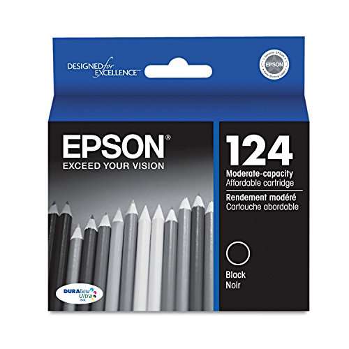 Epson DURABrite 124 Moderate Capacity Ink Cartridge - Black - Inkjet - 170 Page - 1 Each