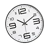Reloj de Pared de Números Grandes 12 '' Reloj de Pared Decorativo de Cuarzo Silencioso Sin Tictac Estilo Moderno Bueno para Sala de Estar Oficina en C
