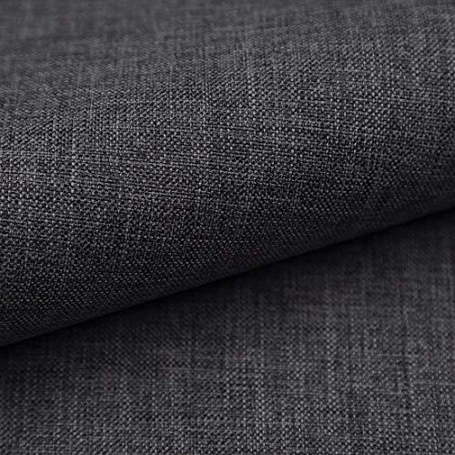 Teker Torino Polsterstoff Möbelstoff Meterware - z.B. Stoff für Stühle oder Eckbank Bezug - Graphit