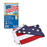 Annin Flagmakers 2720 American Flag Tough-Tex The Strongest, Longest Lasting, 4x6 ft, 100% Made in USA with Sewn Stripes, Embroidered Stars and Brass Grommets
