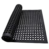Commercial Anti-Fatigue Drainage Rubber Matting 82.6'x35.4'Heavy Duty Non-Slip Floor Mats for Home or Business Indoor Outdoor Use Workstation Mat