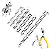 8 Pieces Metal Model DIY Tool Sets 6 Pieces Metal Cone Shape Bending Assist Tools and 2 Pieces Diagonal Plier Nose Plier Tool Kits for 3D Metal Jigsaw Puzzles Model Assembly Jewelry DIY