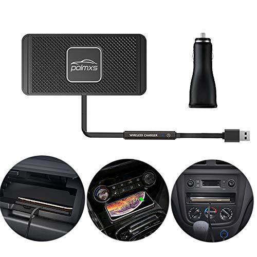 Wireless car qi Charging pad Non Slip qi wirleess Charger Charging car pad Wireless Phone Charger Charging pad for car Fast Charging wirelss qi car Phone Charger pad Note10 S9S10S8 (30cm Cable)(C2Y)