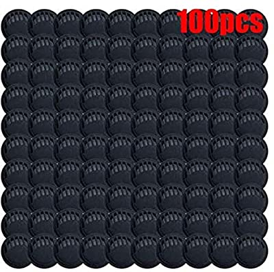 100 Packs(Black) Outdoor Anti-dust Protection Face Cover Filter Air Breathing Valves Accessories, Cycling Breathing Filter Valve for DIY Sewing. by JingXiGuoJi