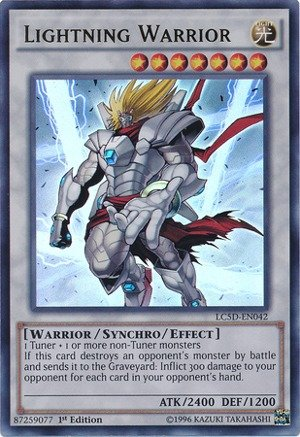 YU-GI-OH! - Lightning Warrior (LC5D-EN042) - Legendary Collection 5D's Mega Pack - 1st Edition - Ultra Rare