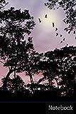 Notebook: Naturaleza, Árboles, Puesta Del Sol, Silueta Cuaderno / Diario / Libro de escritura /...