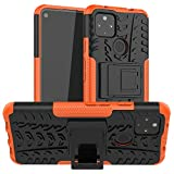 Ankoe for Pixel 4A 5G Case,Pixel 5 XL Case, Heavy Duty Hybrid Slim Dual Layer Rugged Rubber Hybrid Hard/Soft Impact Armor Defender Protective Case with Kickstand for Pixel 4a 5G (2020) 6.2' (Orange)