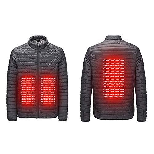 LIIYANN Männer beheizte Jacken wasserdicht Winddicht warm Softshell Winterjacke Wintermantel elektrisch beheizte Jacke USB-Gebühr für Mann Outdoor Camping (schwarz)