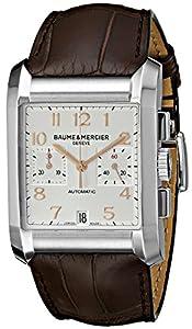 Baume Mercier Men's 10029 Hampton Mens Chronograph Brown Leather Strap Watch image