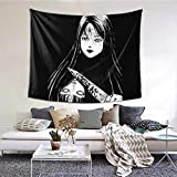Snanna Tomie Junji Ito Tapestry Wall Hanging, Tapestries Wall Blanket Wall Art for Living Room Bedroom Home Decor 80 X 60 Inch