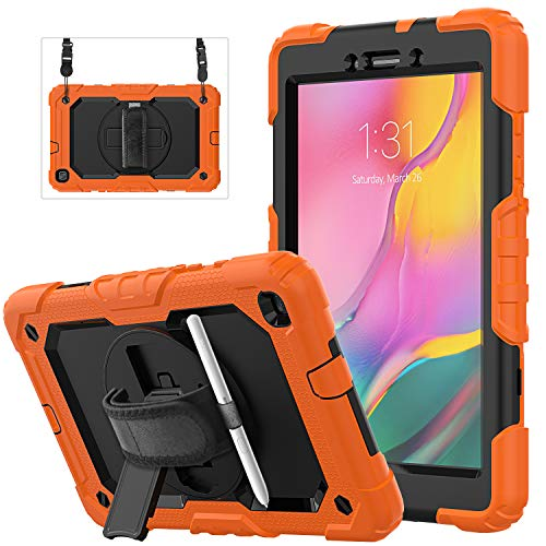 Galaxy Tab A 8.0 2019 Case | Herize SM-T290/T295 Case with Screen Protector | Build-in Pencil Holder | Samsung Tablet Case Protector with Stand Handle Shoulder Strap for Samsung Galaxy Tab A 8.0