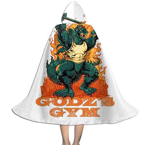 NUJSHF Godzilla Gym Unisex Kinder Kapuzenumhang Umhang Cape Halloween Weihnachten Party Dekoration Rolle Cosplay Kostüme Outwear